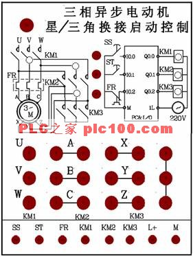 接线图; 三相异步电动机的星/三角换接启动控制-免费