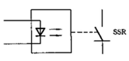 固态继电器的电路符号如下图所示