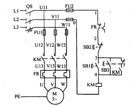 完成点动与连续继电-接触控制系统的plc改造控制图