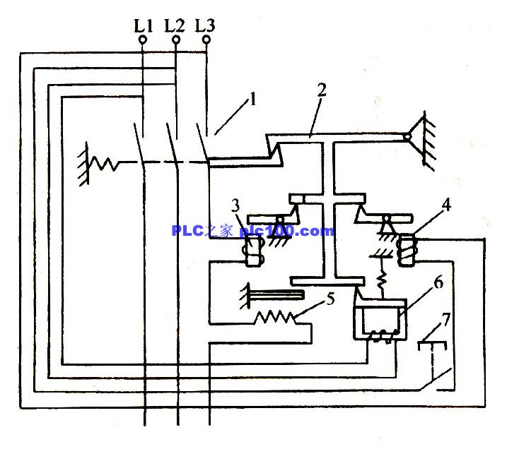 自动空气开关工作原理图在电力拖动中有很详细的介绍