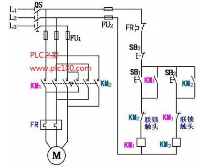 西门子接触器正反转接线图
