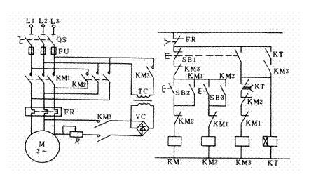 三相异步电动机能耗制动控制线路