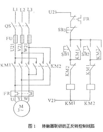 接触器联锁的正反转控制线路原理分析