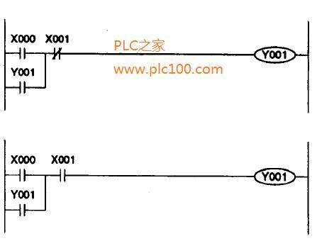 一个简单自锁plc梯形图编程