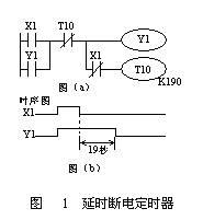三菱FX系列PLC延时断定时器梯形图和时序图