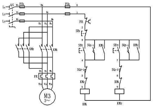 用plc控制自动往返控制电路设计